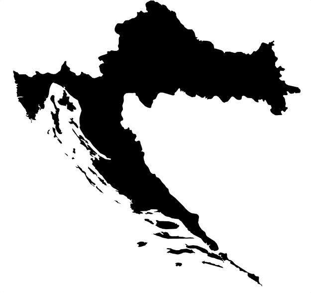 un-formatted map of croatia