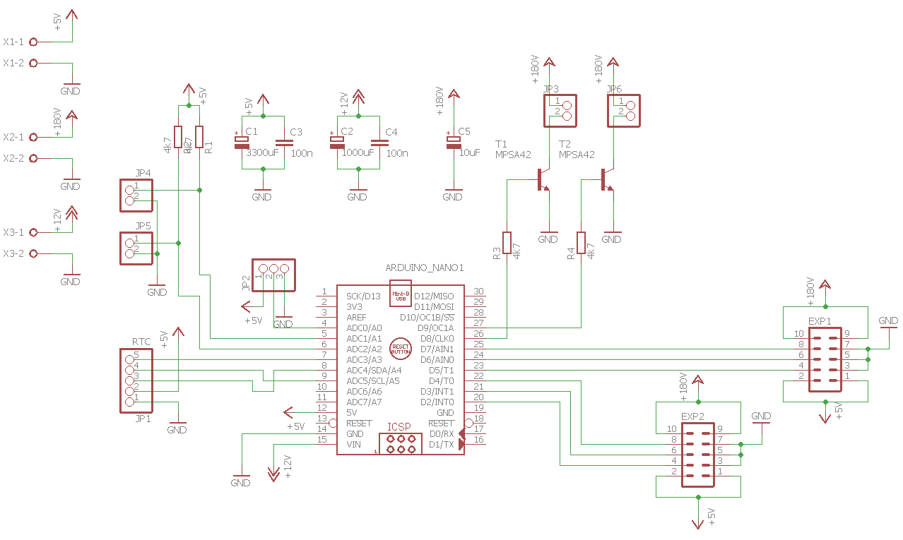 Building Arduino Powered Nixie Clock Mono Software Home Images Pi Shift Register Circuit Png Main Board Schematic